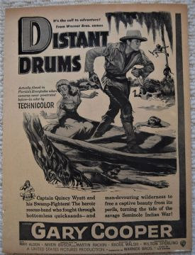 Distant Drums (1951) - Gary Cooper | Vintage Trade Ad